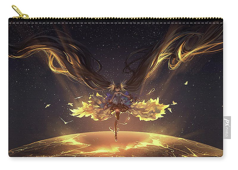 Vocaloid Carry-all Pouch featuring the digital art Vocaloid by Maye Loeser