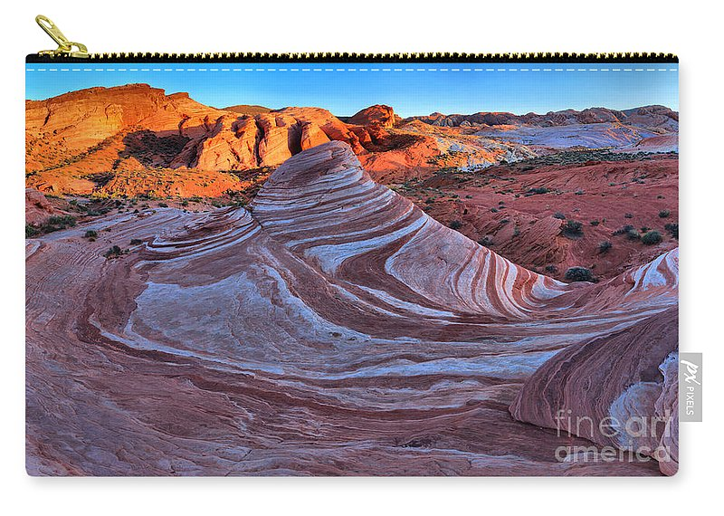 Fire Wave Carry-all Pouch featuring the photograph Fire Wave Panorama by Adam Jewell