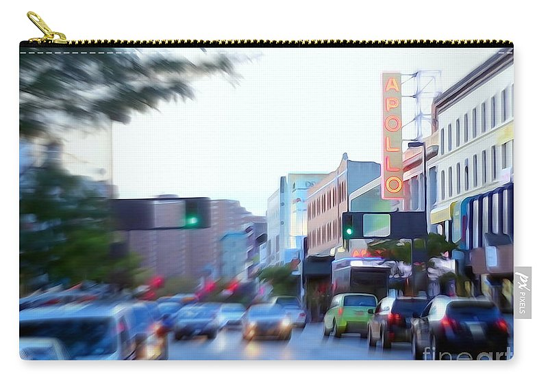 Photo Painting Carry-all Pouch featuring the photograph 125th Street Harlem Nyc by Ed Weidman