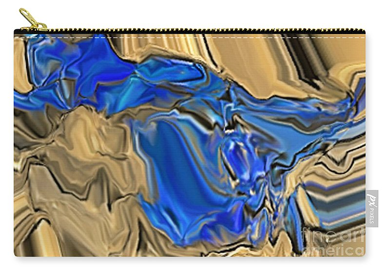 Abstract Carry-all Pouch featuring the digital art 1297exp6 by Ron Bissett