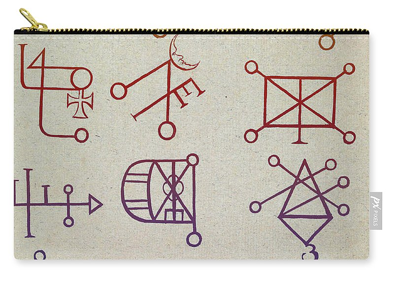 History Carry-all Pouch featuring the photograph Cabbalistic Signs And Sigils, 18th by Science Source