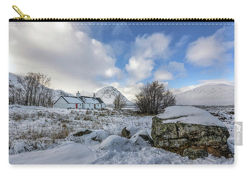 Black Rock Cottage Carry-all Pouch featuring the photograph Glencoe - Scotland by Joana Kruse