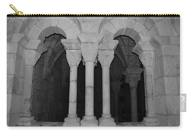 Black And White Carry-all Pouch featuring the photograph Miami Monastery by Rob Hans