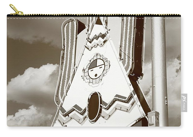 66 Carry-all Pouch featuring the photograph Route 66 - Tucumcari New Mexico by Frank Romeo