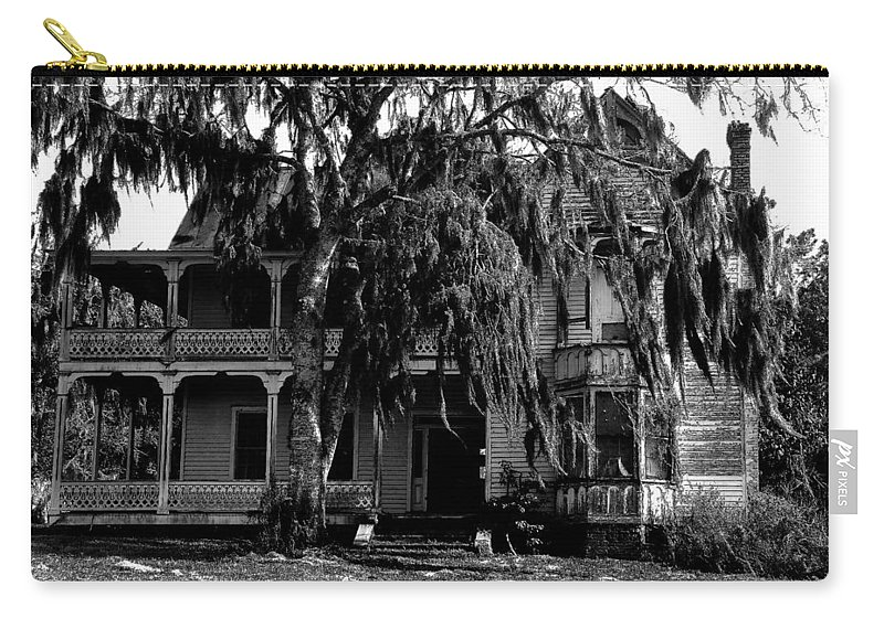 House Carry-all Pouch featuring the painting 13th House On 13th Street by David Lee Thompson