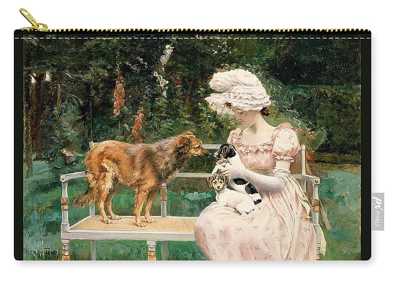 Terrier Carry-all Pouch featuring the digital art Charles Henry Tenre by Eloisa Mannion