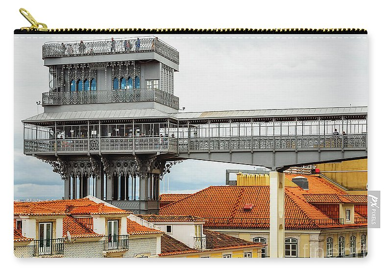 Santa Justa Carry-all Pouch featuring the photograph Lisbon, Portugal by Karol Kozlowski