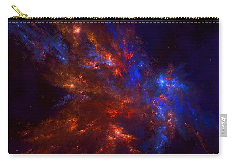 Nebula Carry-all Pouch featuring the digital art Nebula by Mery Moon