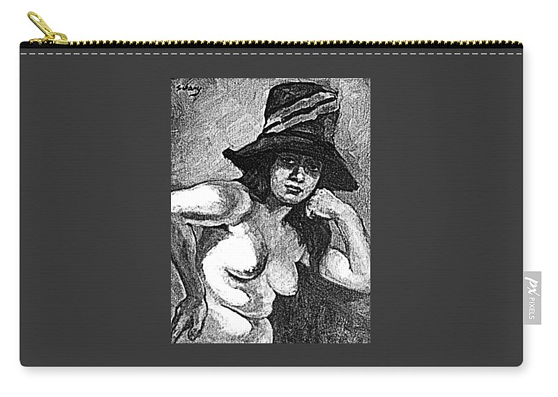 Pinups Carry-all Pouch featuring the digital art Pinup by ReInVintaged