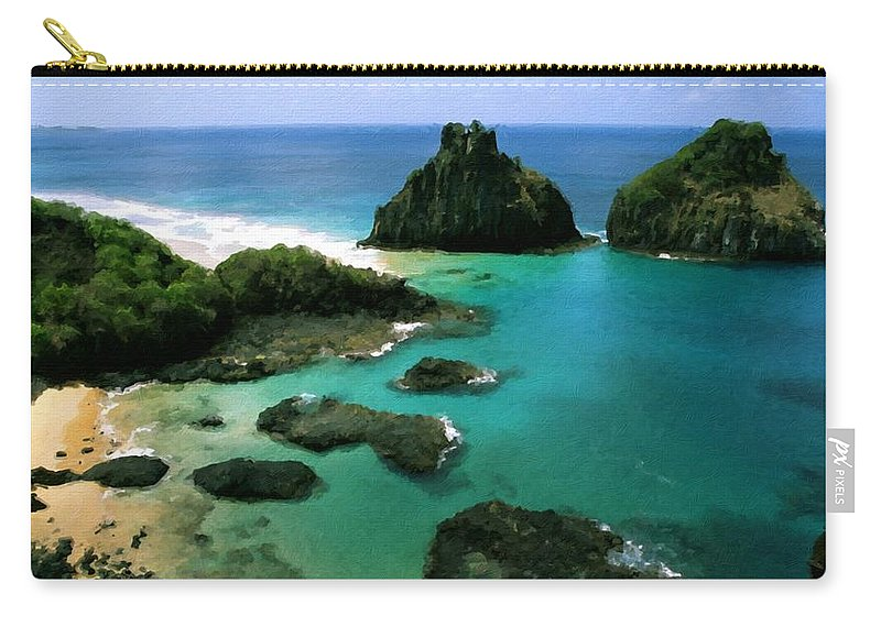 Nature Carry-all Pouch featuring the digital art Poster Landscape by Usa Map