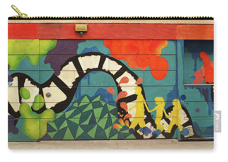Graffiti Carry-all Pouch featuring the photograph 14 by Roger Muntes