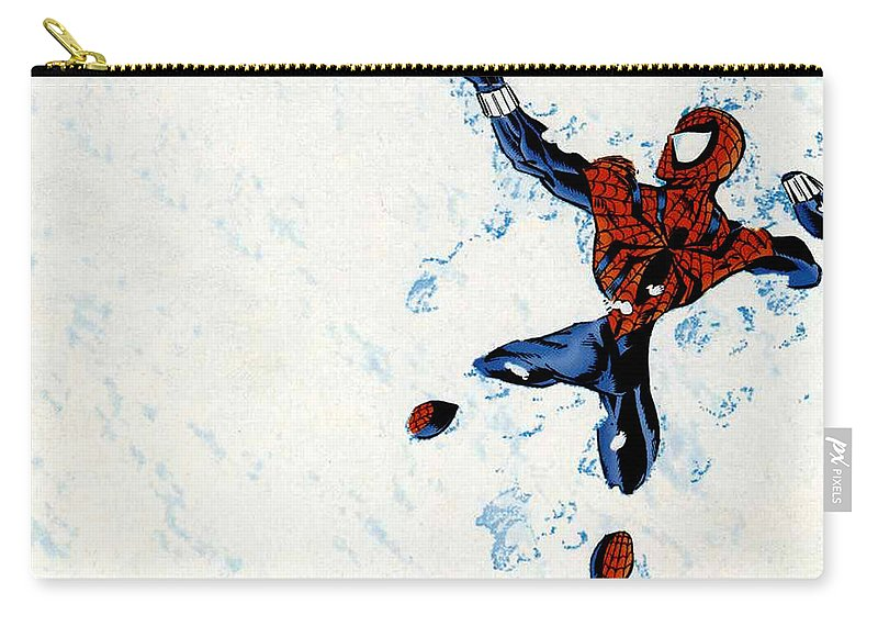 Spider-man Carry-all Pouch featuring the digital art Spider-man by Mery Moon
