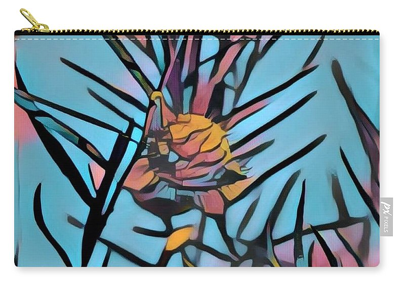 Carry-all Pouch featuring the digital art Swan Plant by Melinda Sullivan Image and Design