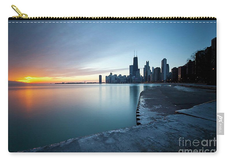 Chicago Carry-all Pouch featuring the photograph 1415 Chicago by Steve Sturgill