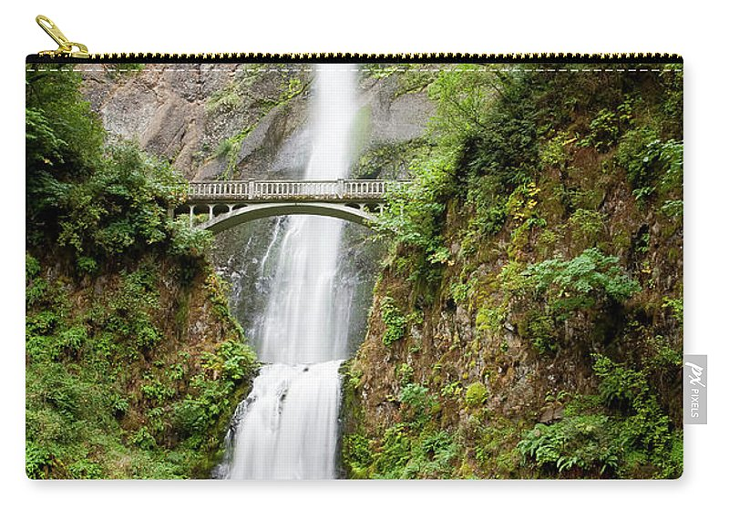 Multnomah Carry-all Pouch featuring the photograph 1416 Multnomah Falls by Steve Sturgill