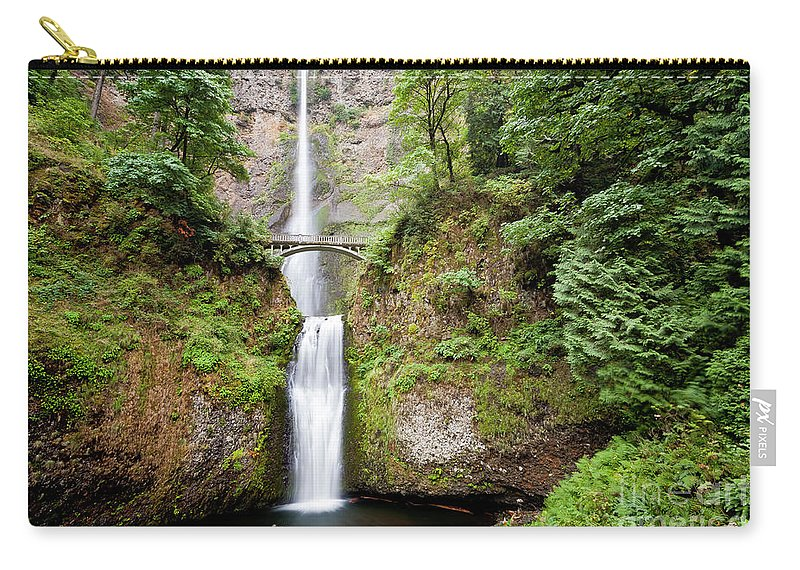 Multnomah Carry-all Pouch featuring the photograph 1417 Multnomah Falls by Steve Sturgill