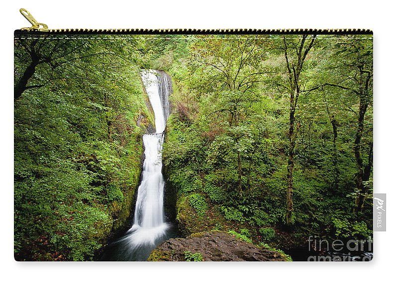 Bridal Carry-all Pouch featuring the photograph 1418 Bridal Veil Falls by Steve Sturgill