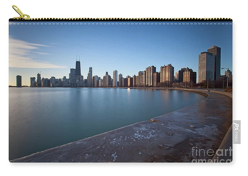 Chicago Carry-all Pouch featuring the photograph 1420 Chicago by Steve Sturgill