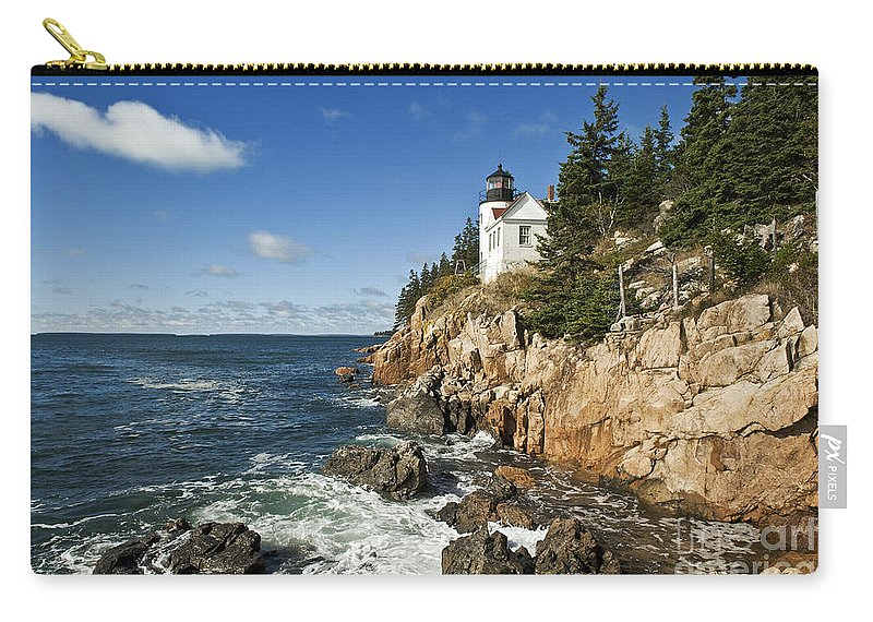 Acadia Carry-all Pouch featuring the photograph Bass Harbor Lighthouse by John Greim