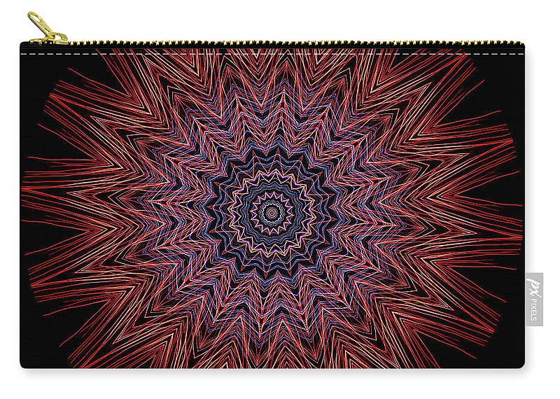 Electric Carry-all Pouch featuring the photograph Kaleidoscope Image Created From Light Trails by Amy Cicconi
