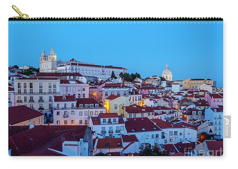 Alfama Carry-all Pouch featuring the photograph Lisbon, Portugal by Karol Kozlowski