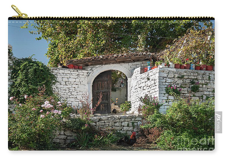 Albania Carry-all Pouch featuring the photograph Street In Berat Old Town In Albania by Jacek Malipan