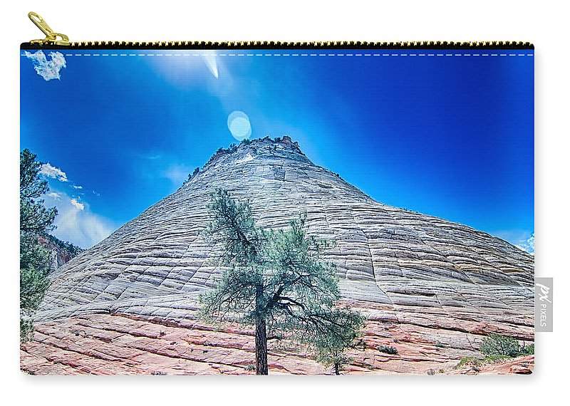 Zion Carry-all Pouch featuring the photograph Zion Canyon National Park Utah by Alex Grichenko