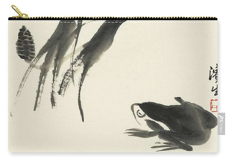 Frog Carry-all Pouch featuring the painting Frog by Qi Baishi