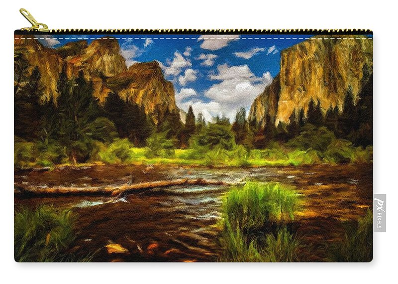 Landscape Carry-all Pouch featuring the digital art Landscape View by Usa Map