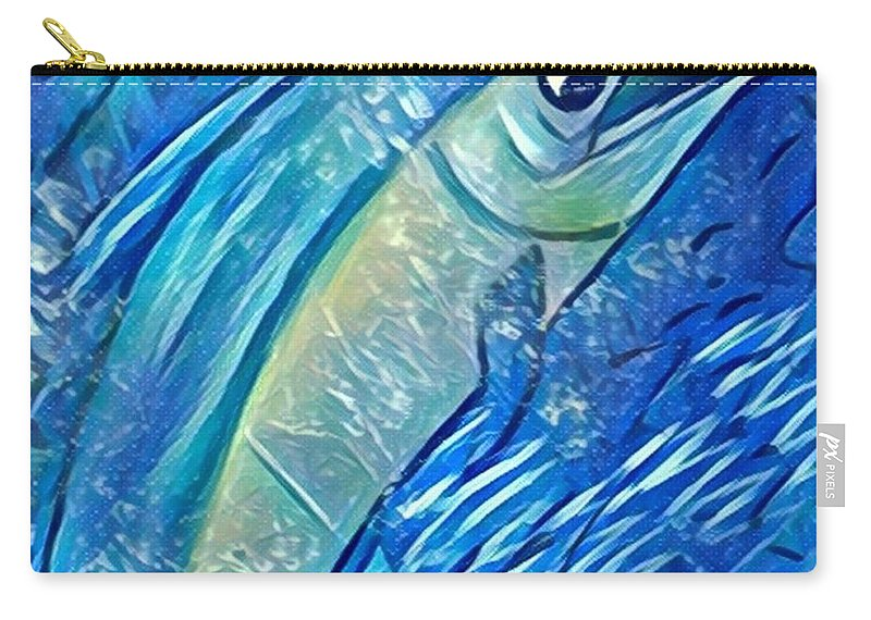 Carry-all Pouch featuring the digital art Swordfish by Melinda Sullivan Image and Design