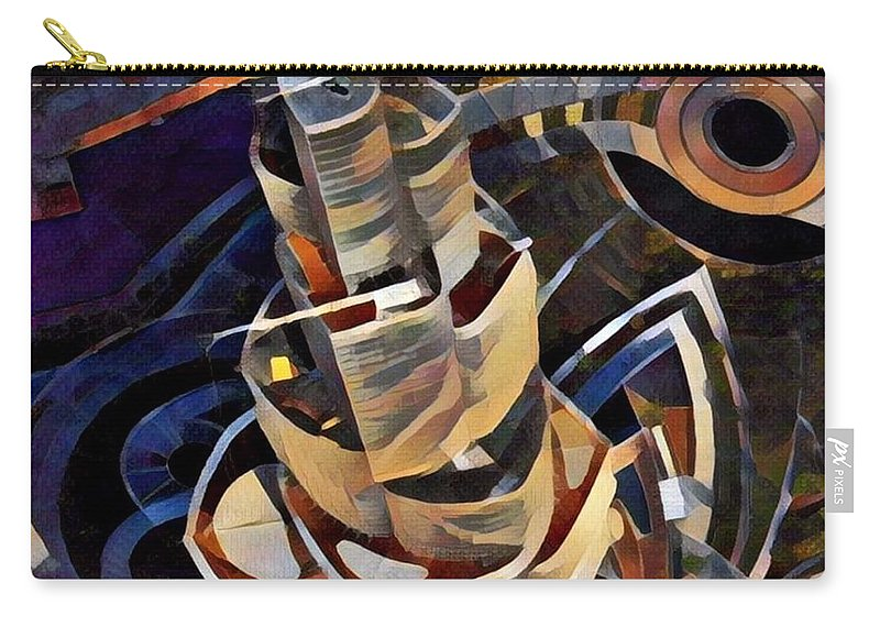 Carry-all Pouch featuring the digital art Burj Khalifa by Melinda Sullivan Image and Design