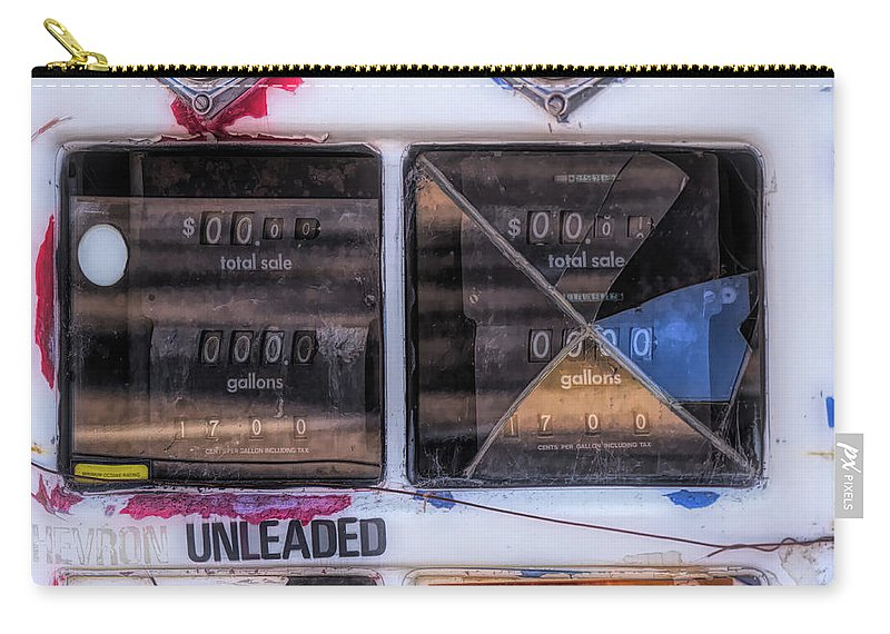 Monterey Carry-all Pouch featuring the photograph 17 Cents Per Gallon by Alan Kepler