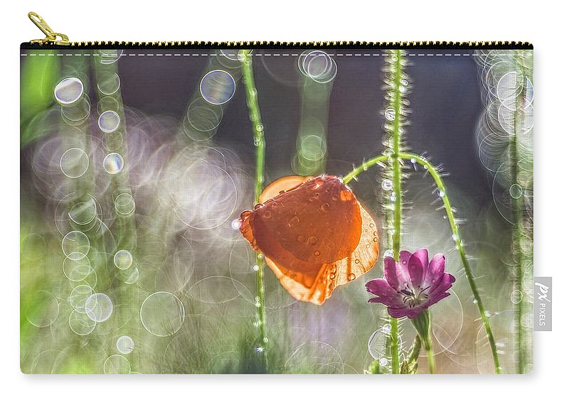 Flower Carry-all Pouch featuring the digital art Flower 17 by Maye Loeser