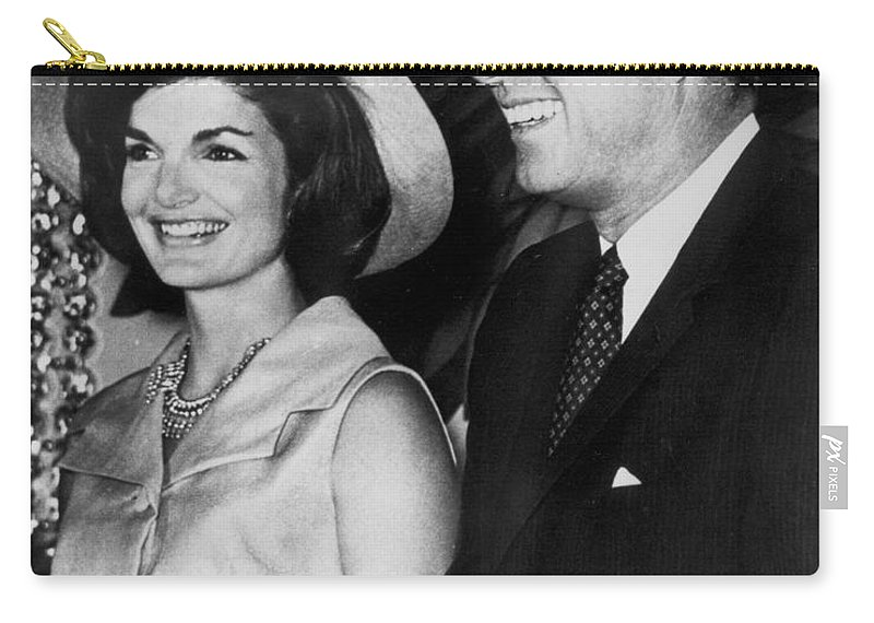 1960s Carry-all Pouch featuring the photograph John F Kennedy (1917-1963) by Granger