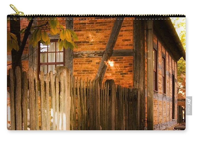 1700s House Carry-all Pouch featuring the photograph 1700s House Old Salem by Bob Pardue
