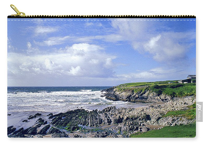Atlantic Carry-all Pouch featuring the photograph 174-008-ireland by David Lange
