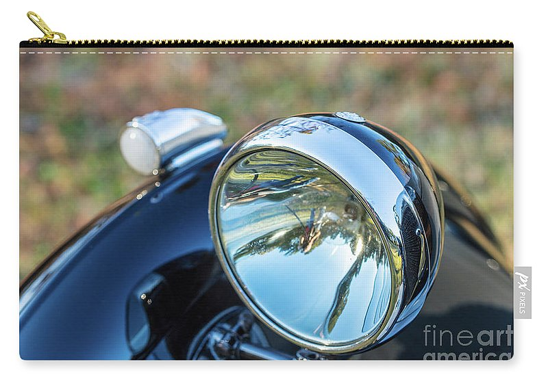 1930 Mg Carry-all Pouch featuring the photograph 1743.0421930 Mg Headlight by M K Miller