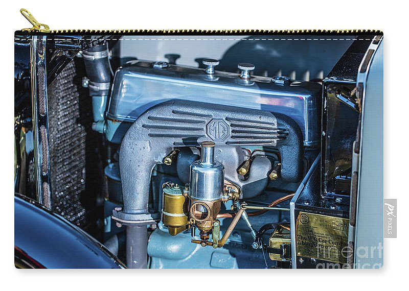 1930 Mg Carry-all Pouch featuring the photograph 1743.046 1930 Mg Engin Plate by M K Miller