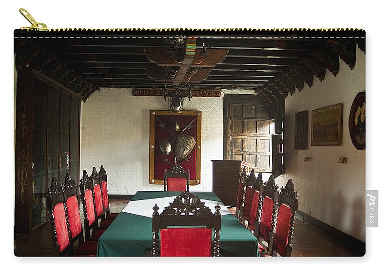17th Carry-all Pouch featuring the photograph 17th Centruy Meeting Room by Douglas Barnett