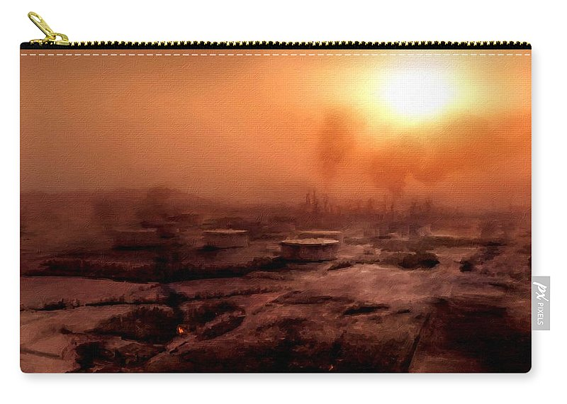 Landscape Carry-all Pouch featuring the digital art Fine Art Landscape by Usa Map