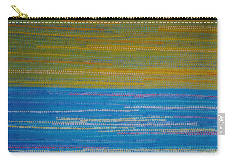 Abstract Carry-all Pouch featuring the painting Identity by Kyung Hee Hogg