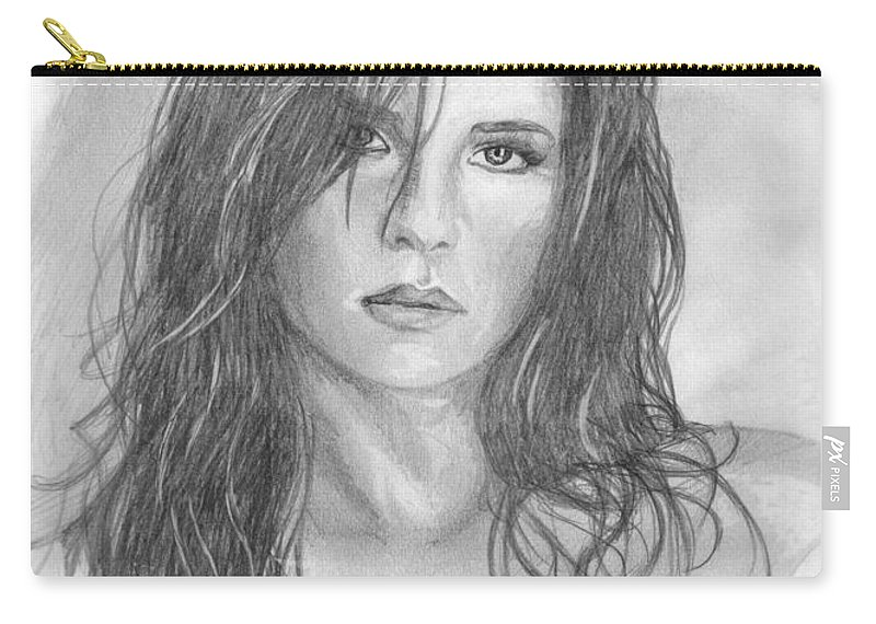 Kelly Monaco Carry-all Pouch featuring the drawing 18 by Kristopher VonKaufman