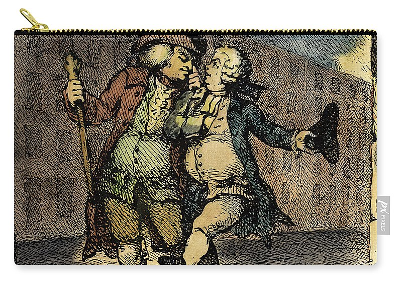 1786 Carry-all Pouch featuring the drawing Samuel Johnson, 1709-1784 by Granger