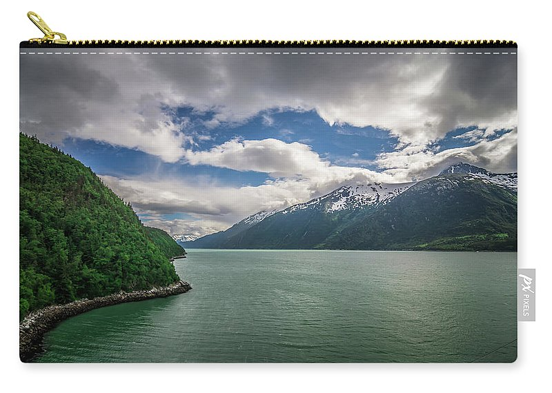 Alaska Carry-all Pouch featuring the photograph Skagway Alaska In June, Usa Northern Town Near Canada by Alex Grichenko