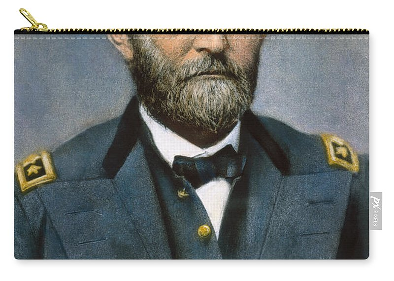 1864 Carry-all Pouch featuring the photograph Ulysses S. Grant (1822-1885) by Granger