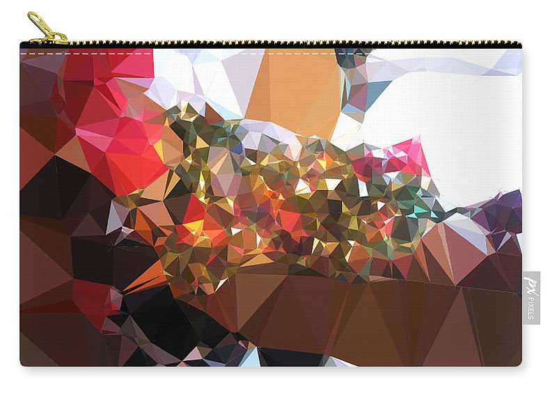Texture Abstract Urban Modern Canvas Acrylic Spray Paint Contemporary Modern Gift Decorative Painting Minimalism Expressionism Modern Lights Art Fashion Design Night Print Juan Mildenberger Photographs Gift Wall Office Mixed Media 3d Effect Visual Carry-all Pouch featuring the painting Untitled by Juan Mildenberger