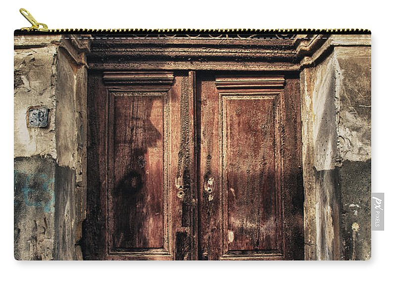 Ancient Carry-all Pouch featuring the photograph 1891 Door Cyprus by Stelios Kleanthous