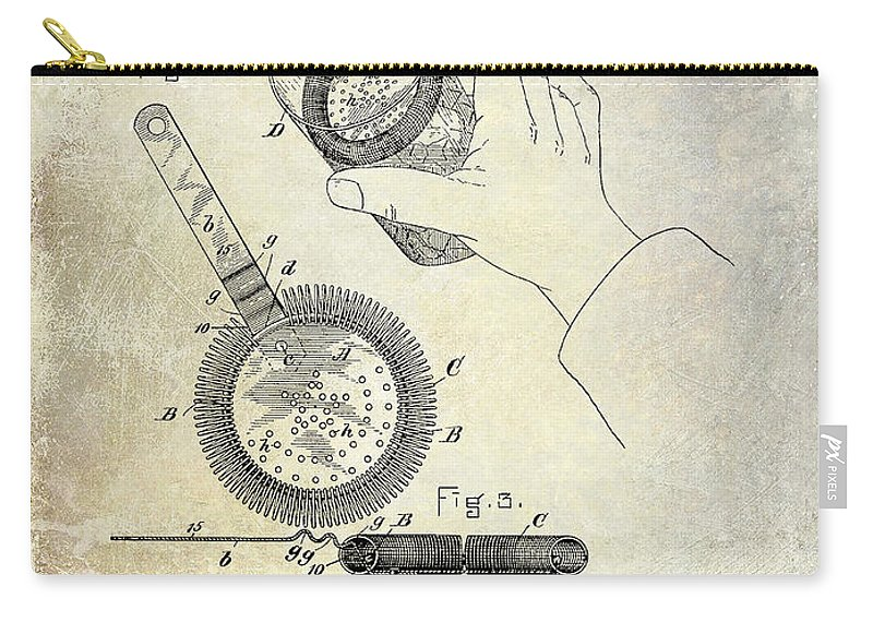 Martini Carry-all Pouch featuring the photograph 1892 Cocktail Mixer by Jon Neidert