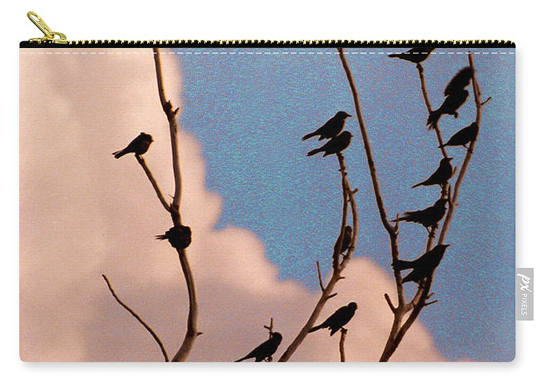 Birds Carry-all Pouch featuring the photograph 19 Blackbirds by Steve Karol