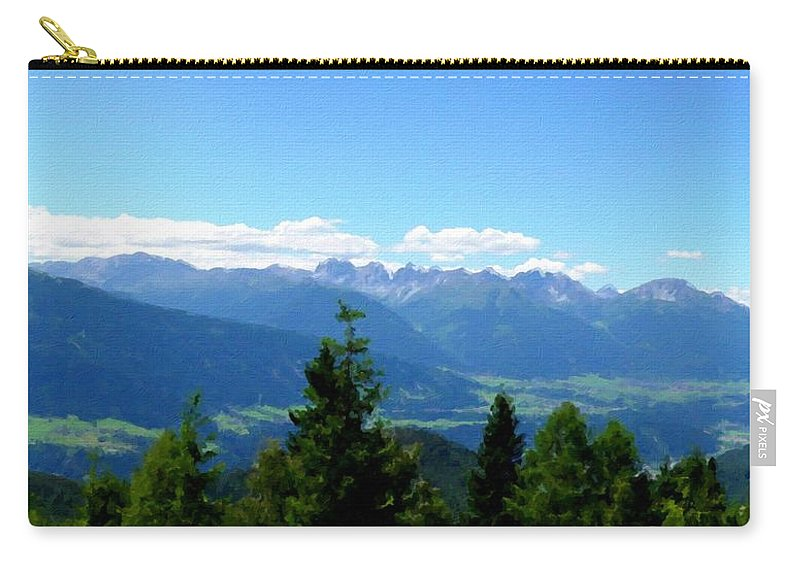 Fine Carry-all Pouch featuring the digital art K Landscape by Malinda Spaulding